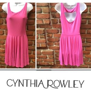 Cynthia Rowley Pink Sleeveless Fit & Flare Dress S